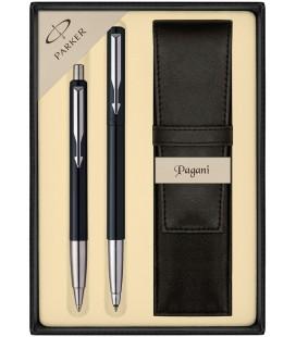 Zestaw Parker Vector Standard pióro kulkowe i długopis z etui Pagani