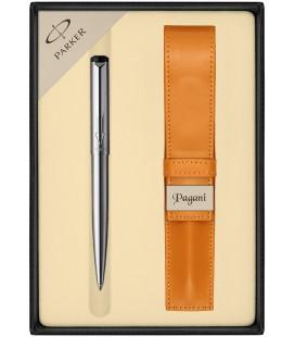 Zestaw Parker Vector Stalowy CT długopis z etui Pagani