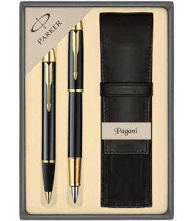 Zestaw Parker IM pióro i długopis z etui Pagani