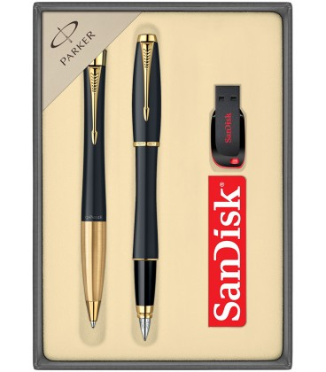 Zestaw Parker URBAN pióro i długopis z USB SanDisk