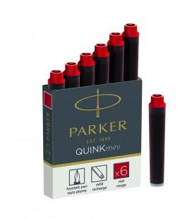 Naboje atramentowe Parker MINI Czerwony 1950408
