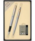 Zestaw Parker Jotter Core pióro i długopis z nabojami PARKER