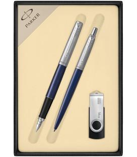 Zestaw Parker Jotter Stalowy CT Pióro Długopis z USB