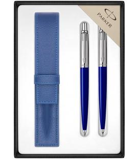 Zestaw Parker Jotter Niebieski CT Długopis i Ołówek z Etui