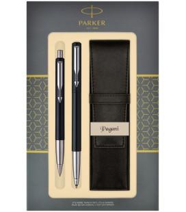 Zestaw Parker Vector Standard roller i długopis z etui Pagani