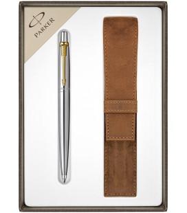 Długopis Parker Jotter Stalowy GT z etui