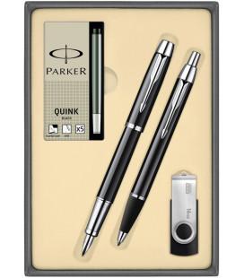Zestaw Parker IM DUO Pióro Parker Długopis Parker z Nabojami Parker i pamięcią USB GoodRam