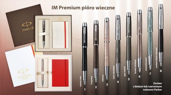 Wybrane modele Parker IM Premium w pudełku z notesem w niezwykle atrakcyjnej cenie